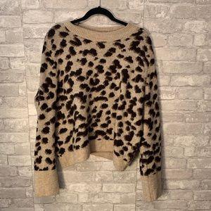 H&M Cropped Leopard Sweater